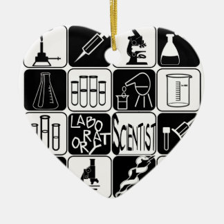 HEART ORNAMENT LABORATORY SCIENTIST TOOLS