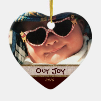 Heart Our Joy Photo Ornament
