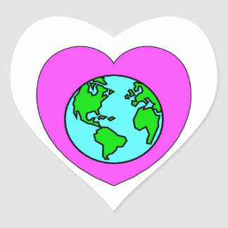 Heart Our Planet Sticker