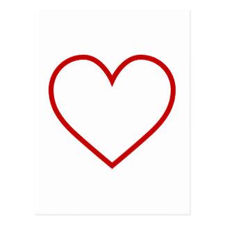Heart Outline Postcard