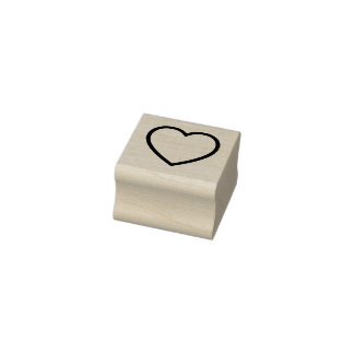 Heart Outline Rubber Stamp