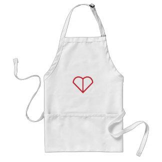 Heart Outline Standard Apron