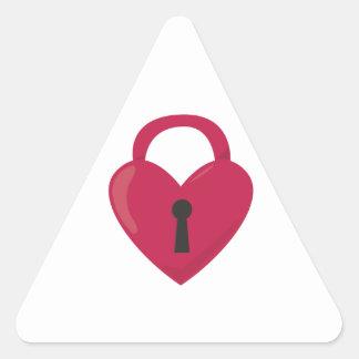 Heart Padlock Triangle Sticker