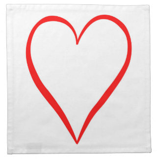 Heart painted on white background napkin