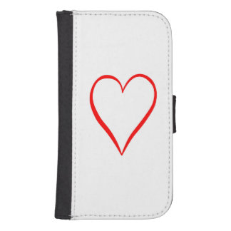 Heart painted on white background samsung s4 wallet case