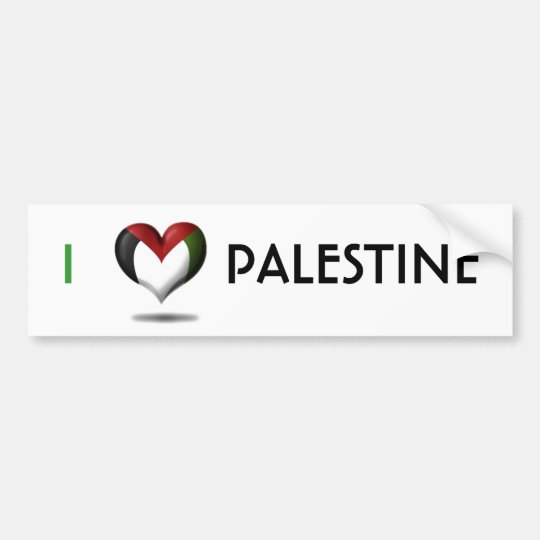 heart palestine bumper sticker