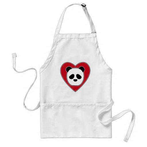 Heart Panda Aprons