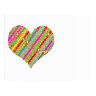 HEART : Paper Punch Shreds Patch ART Postcard