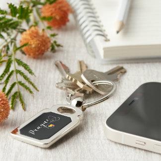 Heart Pargue Keyring, Czech Republic Key Ring