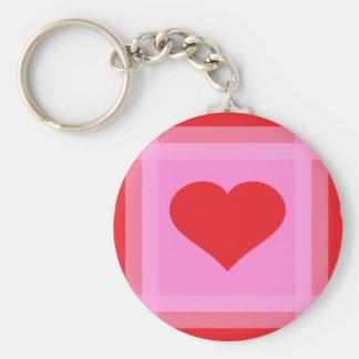 Heart pattern 3 Dark Key Chains