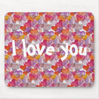 HEART Pattern ART 4 + your text Mouse Pad
