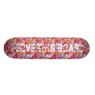 HEART Pattern ART 4 + your text Skateboard Decks