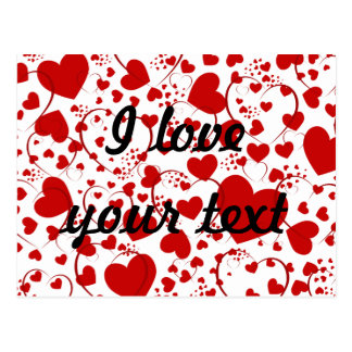 HEART Pattern ART 5 + your text Postcards