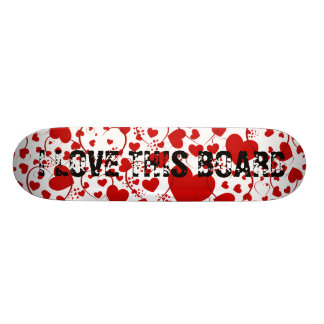 HEART Pattern ART 5 + your text Skate Boards