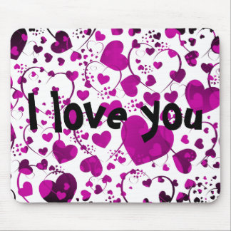 HEART Pattern ART 6 + your text Mouse Pads