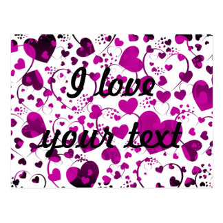 HEART Pattern ART 6 + your text Post Card