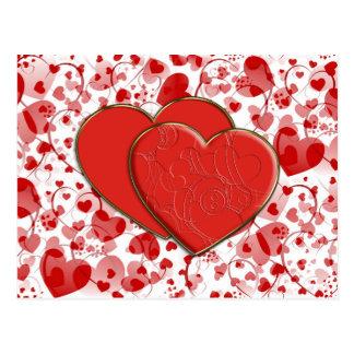 HEART pattern ART 7 + Heart Duet Postcard
