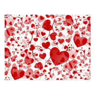 HEART pattern ART 7 Postcard