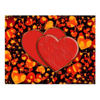HEART pattern ART 8 + Heart Duet Post Card