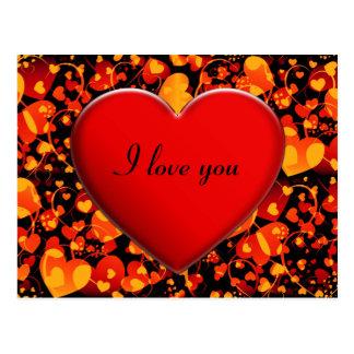 HEART pattern ART 8 + Heart + your text Postcard