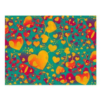 HEART pattern ART 9 Postcard