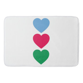 Heart Pattern Bath Mat
