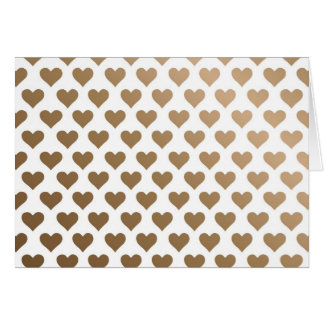Heart Pattern - Chocolate Gradient Greeting Card