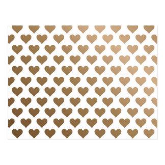 Heart Pattern - Chocolate Gradient Postcard