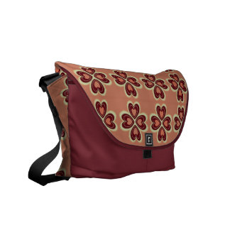 HEART PATTERN COURIER BAG