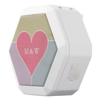 Heart Pattern custom monogram bluetooth speaker