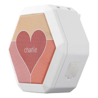 Heart Pattern custom monogram bluetooth speaker