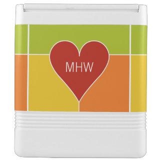 Heart Pattern custom monogram cooler Igloo Cooler