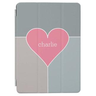 Heart Pattern custom monogram device covers iPad Air Cover