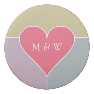 Heart Pattern custom monogram eraser