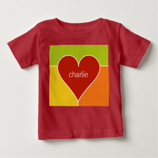 Heart Pattern custom name baby clothing Baby T-Shirt
