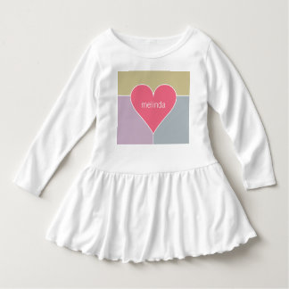 Heart Pattern custom name baby clothing Dress