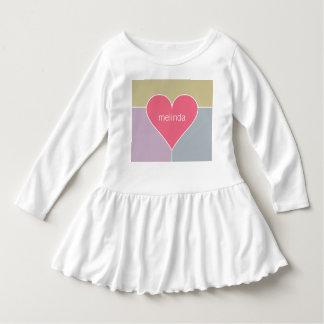 Heart Pattern custom name baby clothing Shirts
