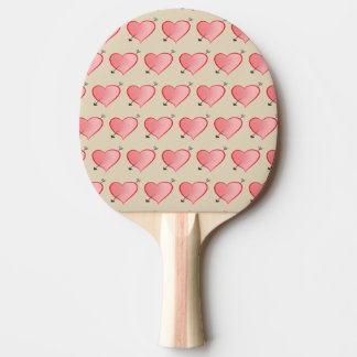 Heart Pattern Cute Cartoon Pink Girly Lovely Chic Ping Pong Paddle