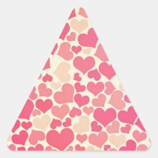 Heart Pattern Design Triangle Sticker