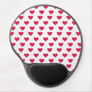 Heart Pattern Gel Mouse Mats