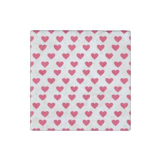 Heart Pattern Stone Magnet