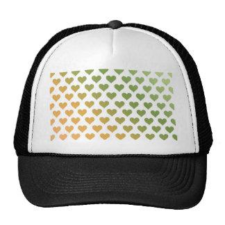 Heart Pattern - Green Citrus Gradient Mesh Hats