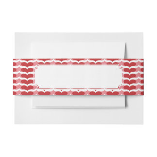 Heart pattern invitation belly band