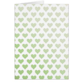 Heart Pattern - Melon Gradient Greeting Card