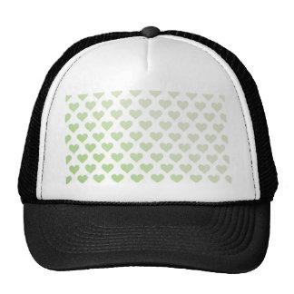 Heart Pattern - Melon Gradient Mesh Hat