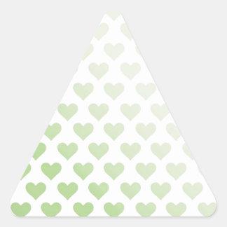 Heart Pattern - Melon Gradient Triangle Sticker