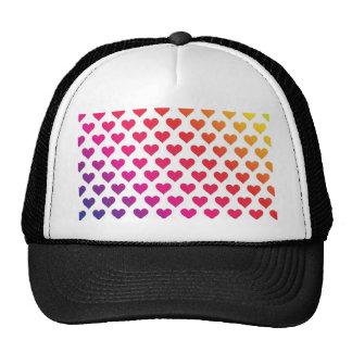Heart Pattern - Rainbow Gradient Trucker Hat