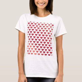 Heart Pattern - Red Berry Gradient T-Shirt