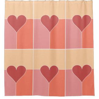 Heart Pattern shower curtain