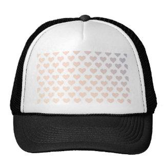 Heart Pattern - Sunset Gradient Mesh Hats